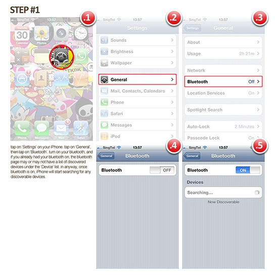 How to pair Playstation BT headset with iPhone Step#1 544px