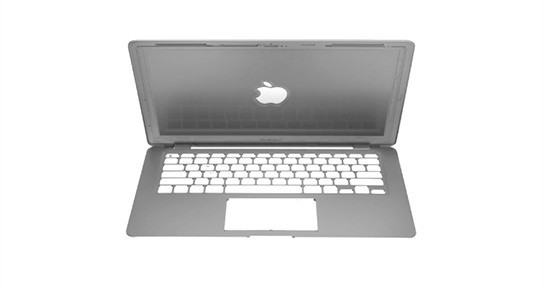 Apple new MacBook Air unibody construction 544px