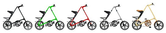 Areaware STRiDA LT foldable bikes - all colors 544px