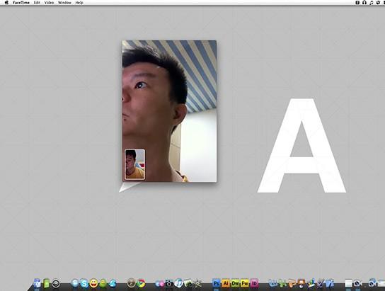 FaceTime Beta test - iMac calls iPhone 544px