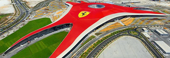 Ferrari World Theme Park - Birds eye view