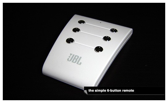 JBL Radial iPod speaker dock - 6-buttons remote 544px