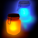 Solar Sun Jar & Touch Sensitive Dog Lamp