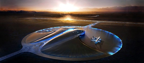 an impression of the Virgin Galactic Spaceport America 544px