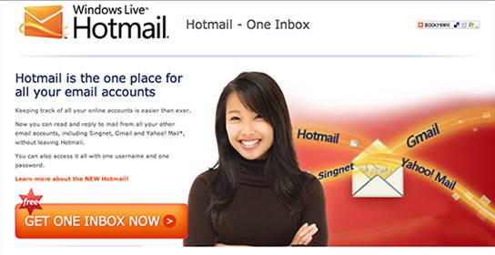 Windows Live Hotmail - one Inbox 544px