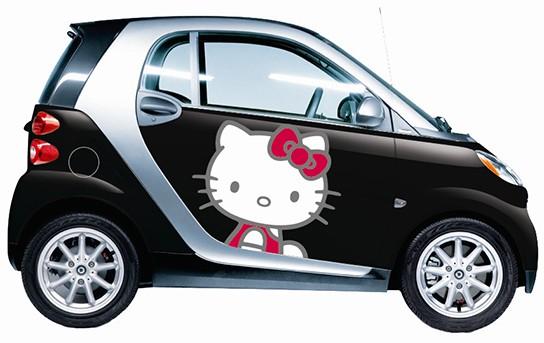 Sanrio Inc. Hello Kitty wraps on smart fortwo 544px