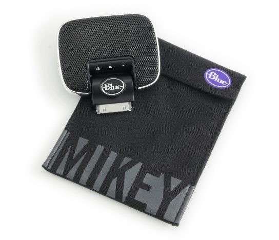 Blue Microphones Mikey 2.0 iPod Recording Microphone with carrying pouch 544px