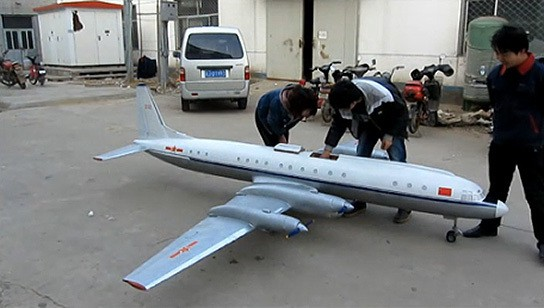 China largest electric radio control aircraft - final preparation 544px