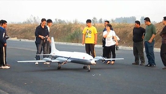 China largest electric radio control aircraft - on the runway 544px