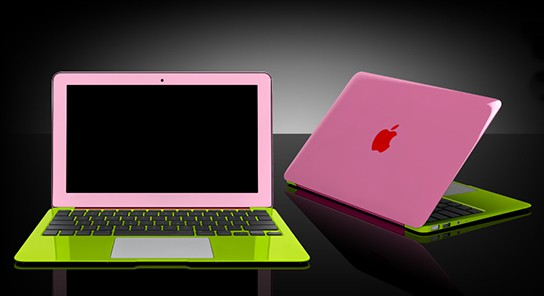 why go for silver/grey MacBook Air when you can have one with colors ...
