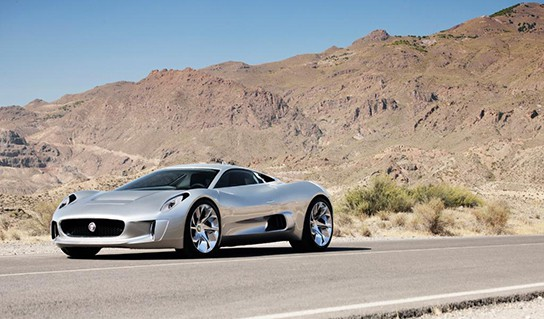 Jaguar C-X75 Range Extended Electric Vehicle - front angled view 544px