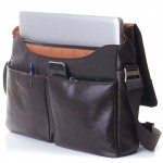 leathery messenger: Knomo Kobe Soft Messenger Bag