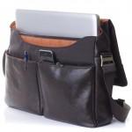 leathery messenger: Knomo Kobe Soft Messenger Bag