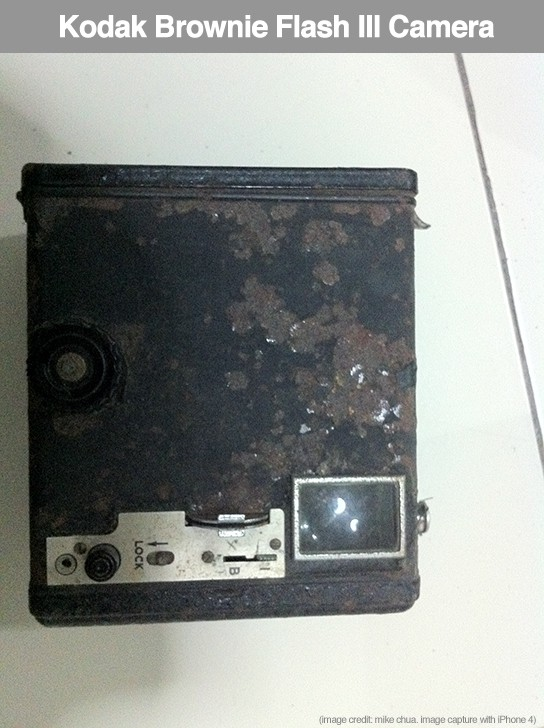 Kodak Brownie Flash III camera - side 544px