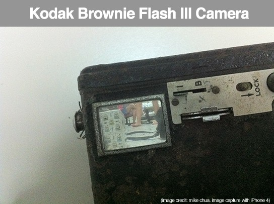Kodak Brownie Flash III camera - view finder