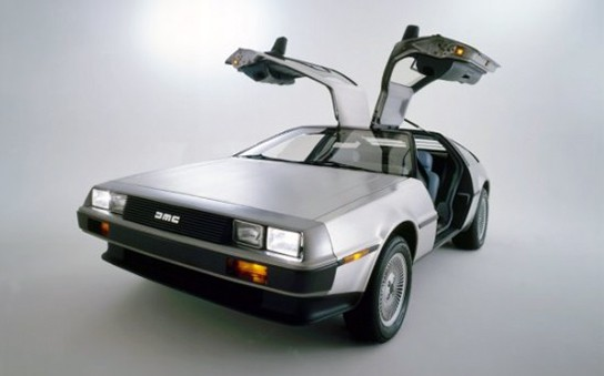 Nike 6.0 DeLorean Dunk - DeLorean with gull wing doors opened 544px