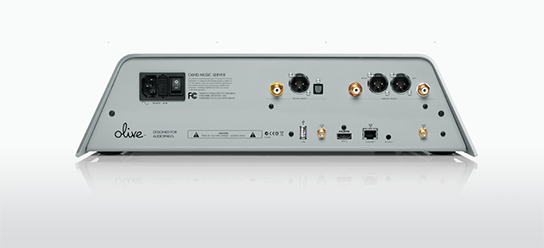 Olive O6HD Music Server - Silver - back view 544px