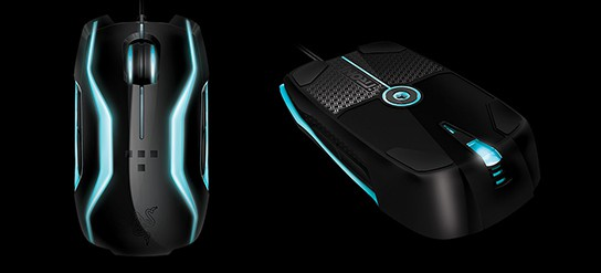 Razer TRON Gaming Mouse - top and bottom views 544px