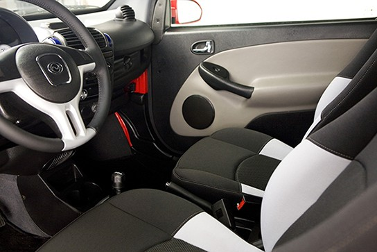 Custom Car Interior Black And White Wheego Whip Life Electric Car