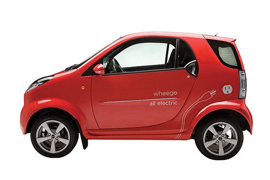 Wheego Whip LiFe electric car - side