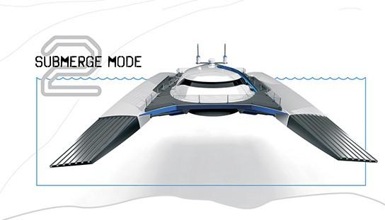 Alex Marzo Submerge concept catamaran Submerge mode 544px