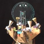 the Quadrotapult displays insane precision kinetic works [videos]