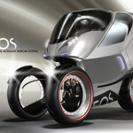 a striking concept trike that comes with a detachable sidecar