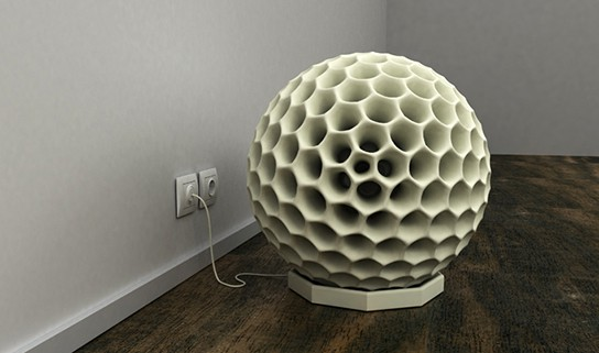 Dave Hakken Dust Ball on its charging station 544px