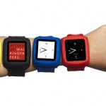 slap on your Nano with metal-silicone slap bracelet