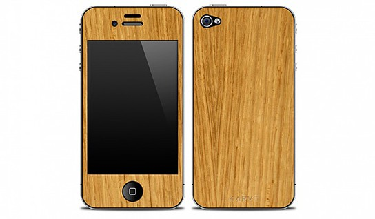 KARVT iPhone 4 skins OAK - Natural 544px