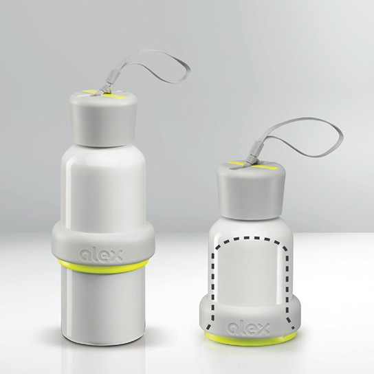 Nice Reuseables Alex Water Bottle - compactable for storage 544px