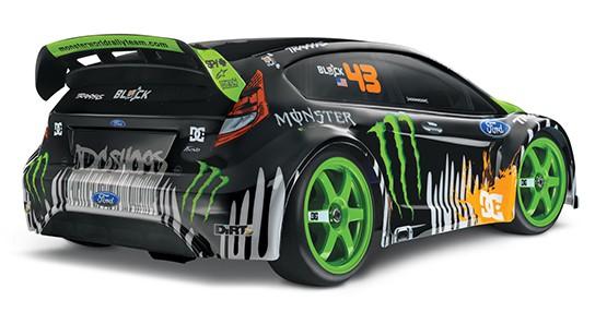 TRAXXAS Ken Block #43 Fiesta - angled rear view 544px