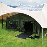 the army is green, but it gets even greener with Solar-powered tents