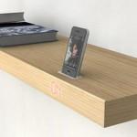 ARKCANARY has an iPhone dock built into its shelf