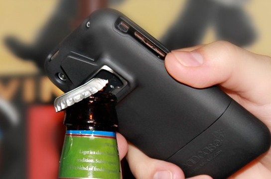 Be a HeadCase bottle opener case action shot 544x360px