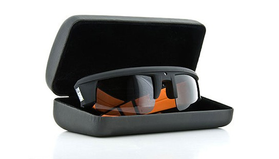 Immortal Video Sunglasses polarized flame orange with metal box 544x311px