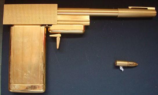 Gold Replica Guns James Bond Golden Gun Replica