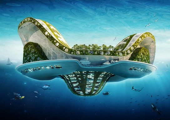 Vincent Callebaut Architectures' Lilypad Floating Ecopolis img1 544px