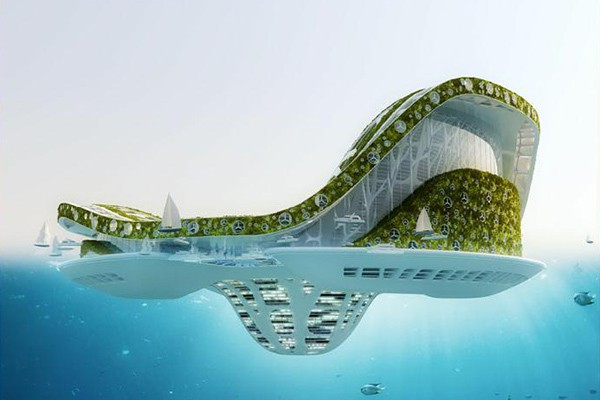 vincent callebaut architectures lilypad floating ecopolis img2 600x400px - Lilypad Architecture