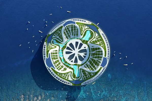 vincent callebaut architectures lilypad floating ecopolis img7 600x400px - Lilypad Architecture