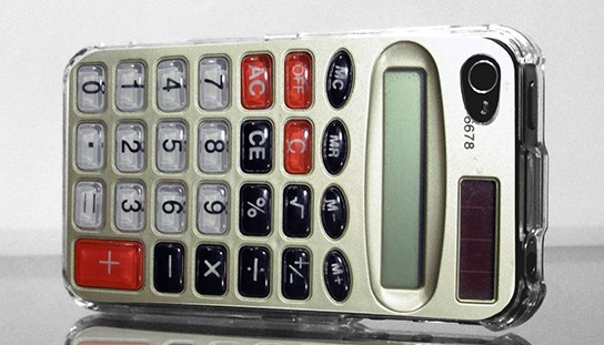 Retro Calculator iPhone case back 544x311px