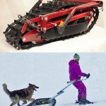 Skizee is a track vehicle that pushes skier around