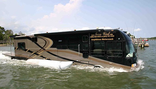 The World S First Luxury Amphibious Motor Coach Boat
