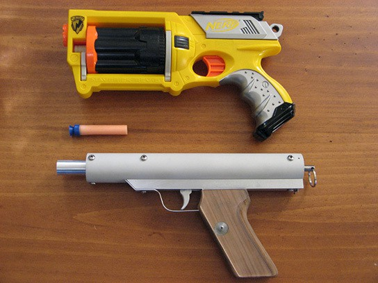 hand-built NERF pistol with NERF Maverick 544px