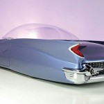 1955 Ford Beatnik Bubbletop Concept Custom - angled rear view 560x345px