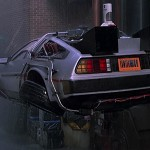 Back to the Future 2 - flying Time Machine DeLorean 600x300px