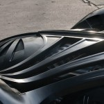 Batman Forever promotional Batmobile - bonnet up-close 560x328px