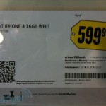 finally, white iPhone 4 shelf tag spotted at Best Buy!