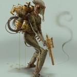 Bjorn Hurri Steampunk Star Wars - Boba Fett 566x800px