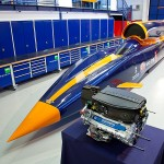 Bloodhound SSC along side Cosworth Formula One engine 800x600px